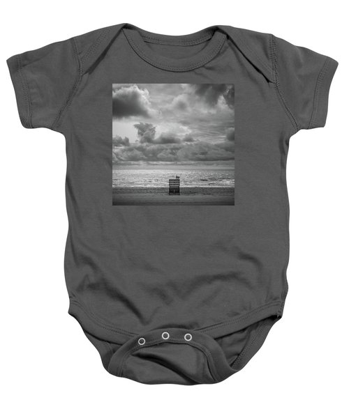 Cloudy Morning Rough Waves Baby Onesie
