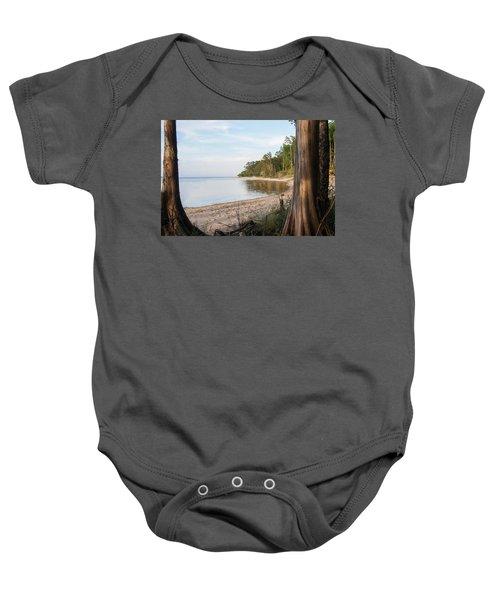 Coastal River Scene Baby Onesie