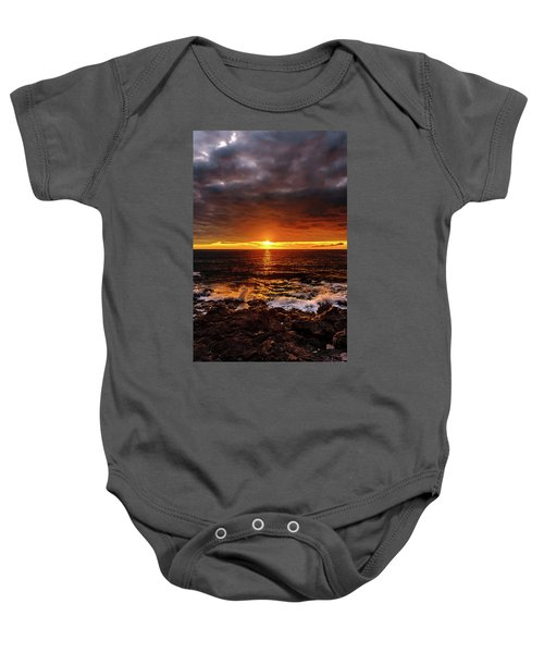 Baby Onesie featuring the photograph Colorful Weekend Sunset by John Bauer