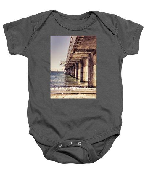 Columns Of Pier In Burgas Baby Onesie