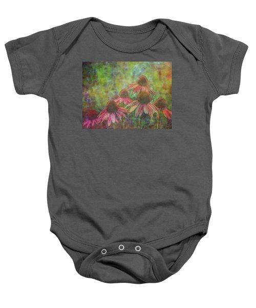 Coneflowers Among The Lavender 1667 Idp_2 Baby Onesie