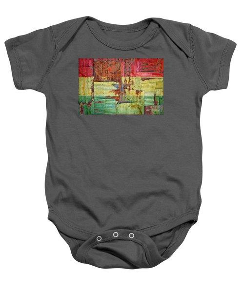 Corrugated Iron Ghana Flag Baby Onesie