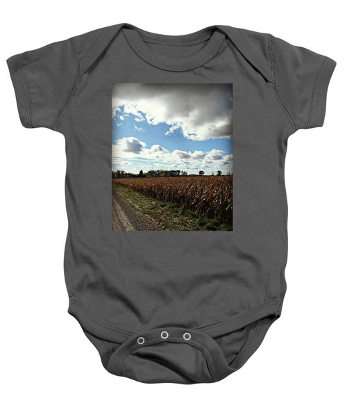 Country Autumn Curves 2 Baby Onesie