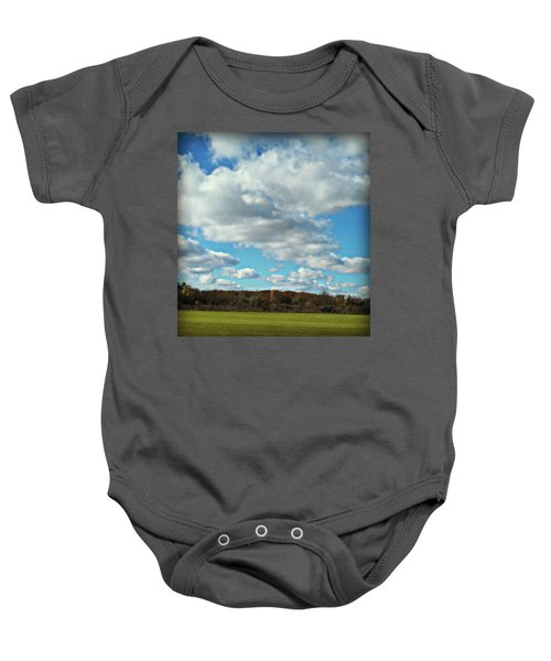 Country Autumn Curves 7 Baby Onesie