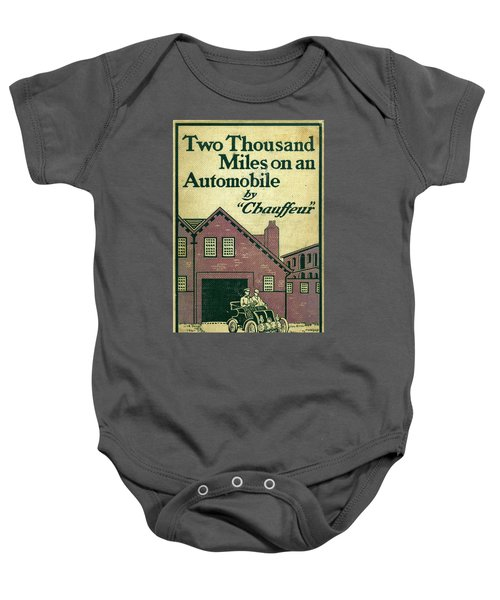 Cover Design For Two Thousand Miles On An Automobile Baby Onesie