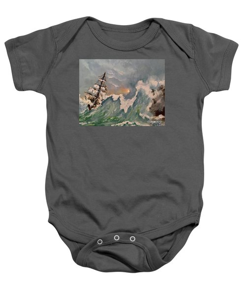 Crashing Waves Baby Onesie