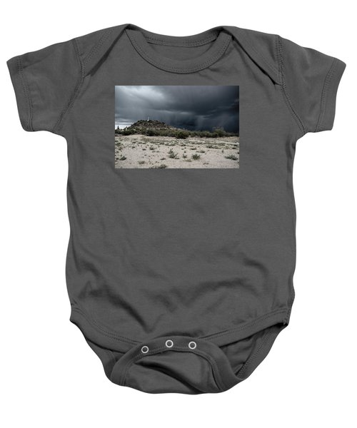 Cross On A Hill Baby Onesie