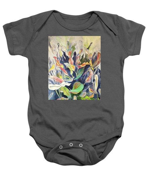 Croton Plant Baby Onesie