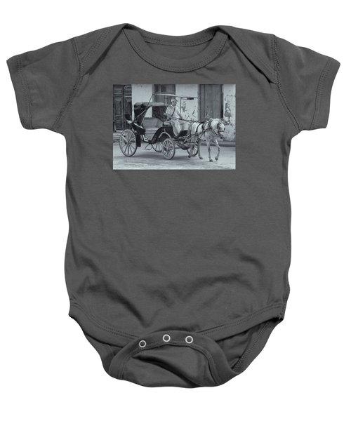 Cuban Horse Taxi Baby Onesie