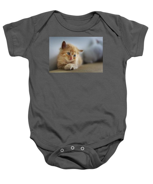 Cute Orange Kitty Baby Onesie