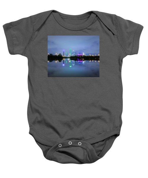 Dallas Cityscape Reflection Baby Onesie