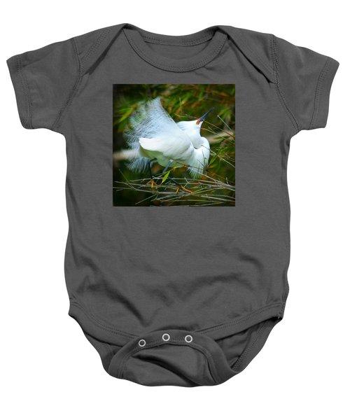 Dancing Egret Baby Onesie