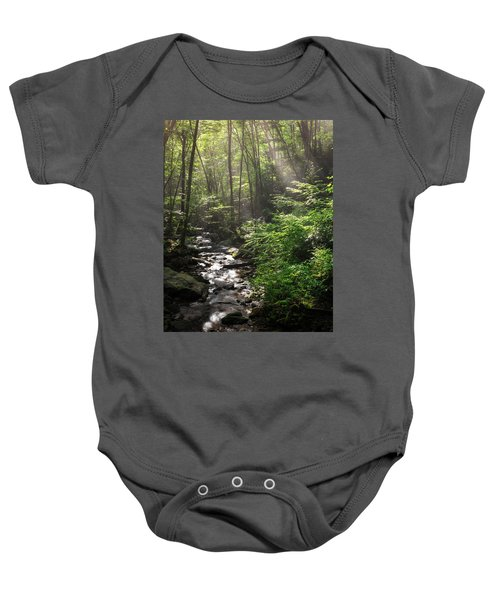 Deep In The Forrest - Sun Rays Baby Onesie