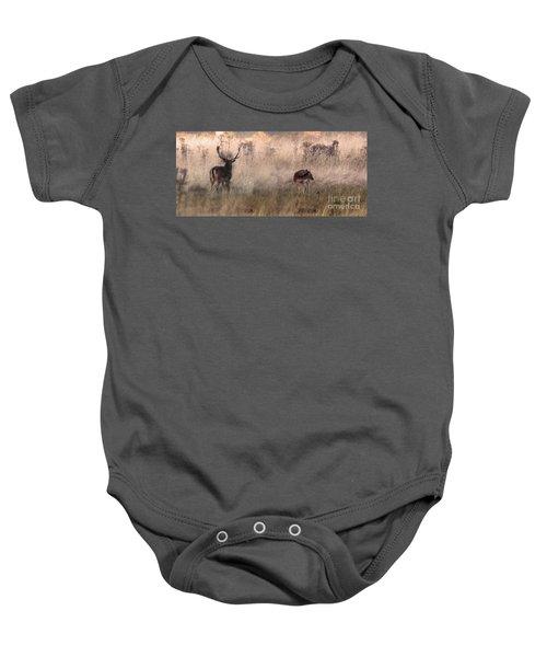 Deer In The Grasses Baby Onesie