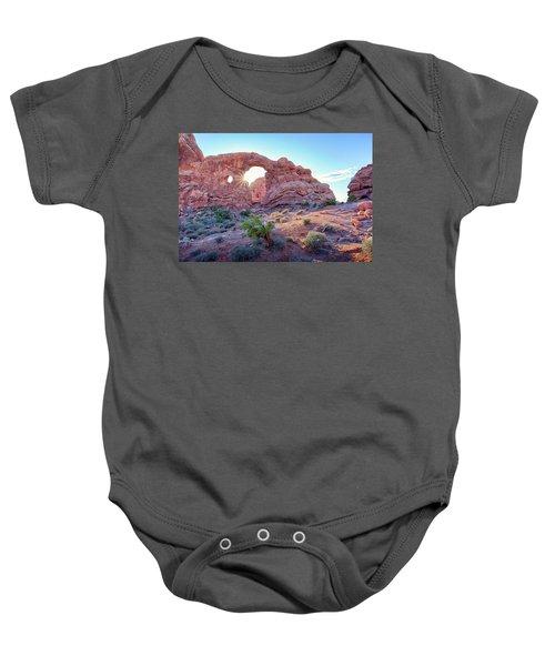 Desert Sunset Arches National Park Baby Onesie
