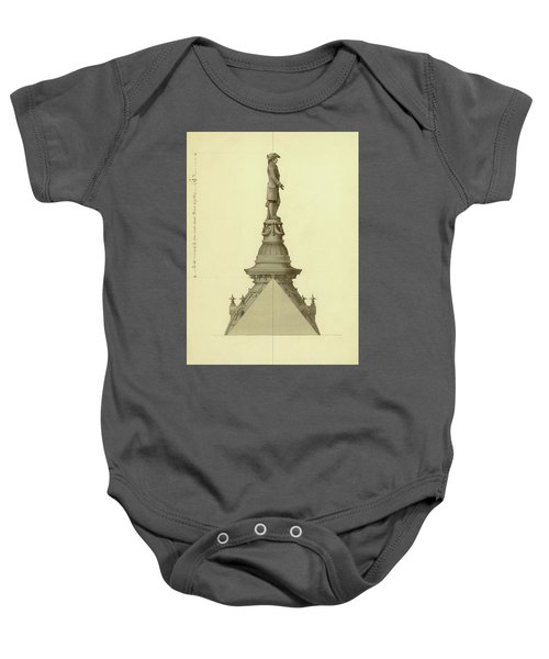 Design For City Hall Tower Baby Onesie