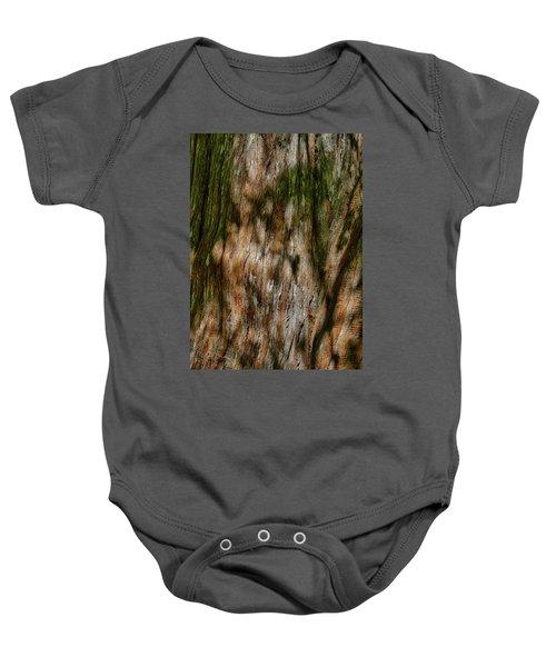 Detail Of Bark On Huge  Tree Baby Onesie