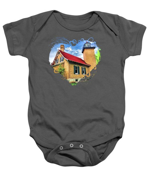 Door County Eagle Bluff Lighthouse Baby Onesie