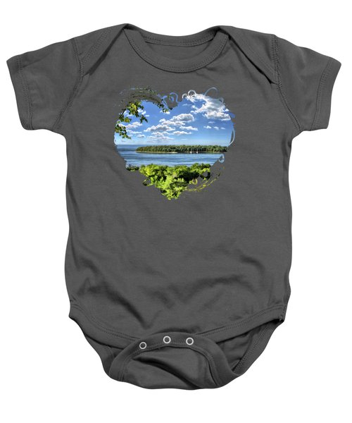 Door County Horseshoe Island Baby Onesie