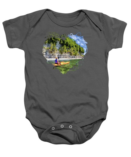 Door County Kayaking Around Rock Island State Park Baby Onesie