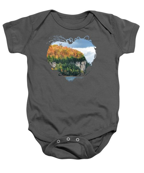 Door County Peninsula State Park Bluff Panorama Baby Onesie