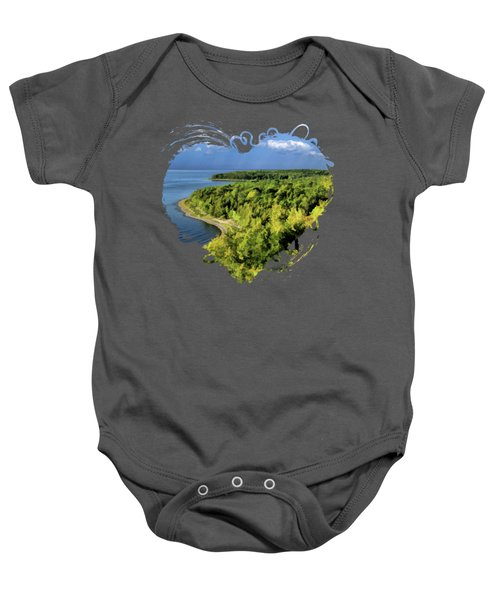 Door County Peninsula State Park Svens Bluff Overlook Baby Onesie