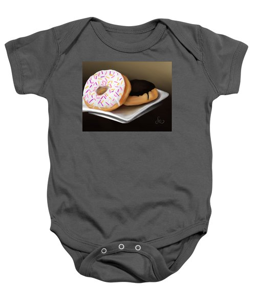 Baby Onesie featuring the painting Doughnut Life by Fe Jones