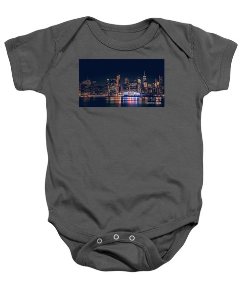 Downtown At Night Baby Onesie