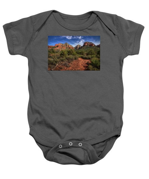 Dramatic Cloudscape Over Capitol Butte Baby Onesie