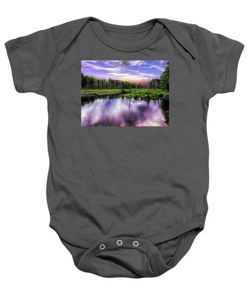 Dusk Falls Over New England Beaver Pond. Baby Onesie