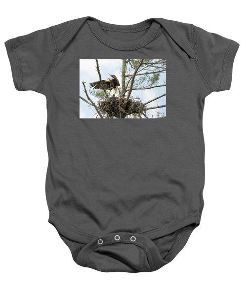 Eagle Landing Baby Onesie