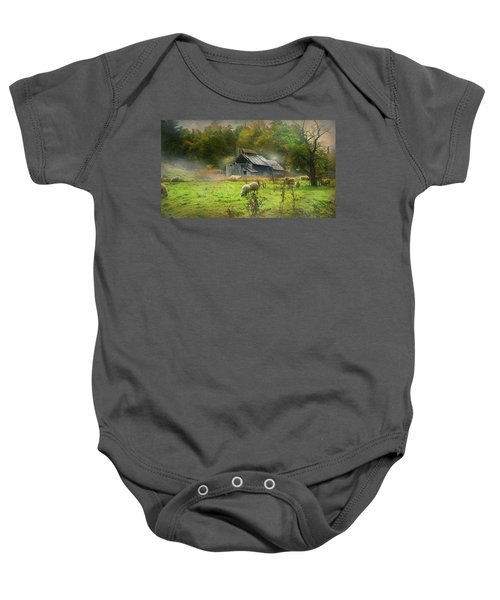 Early Morning Grazing Baby Onesie