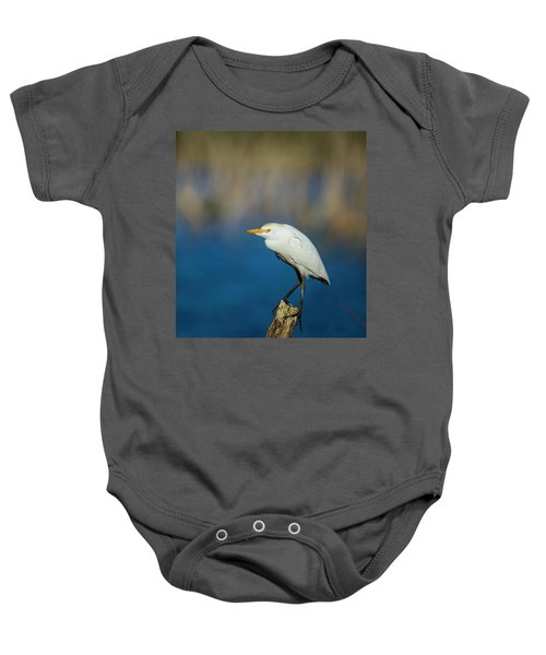 Egret On A Stick Baby Onesie