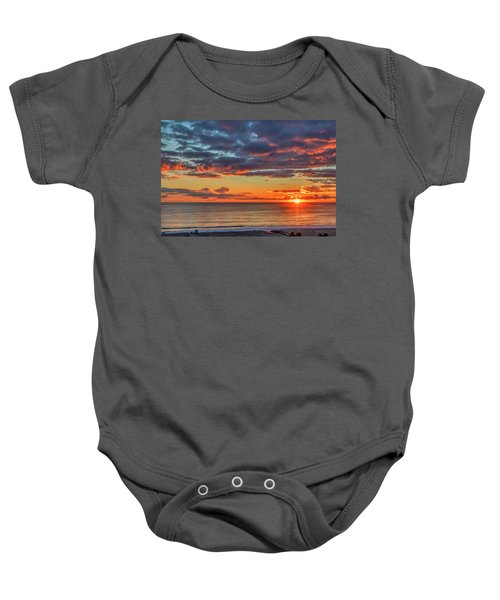 End Of Day Light Show Baby Onesie