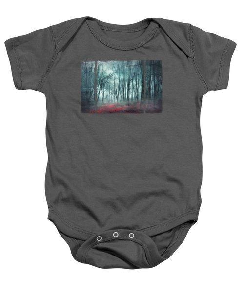 Escape Route - Misty Forest Scenery Baby Onesie