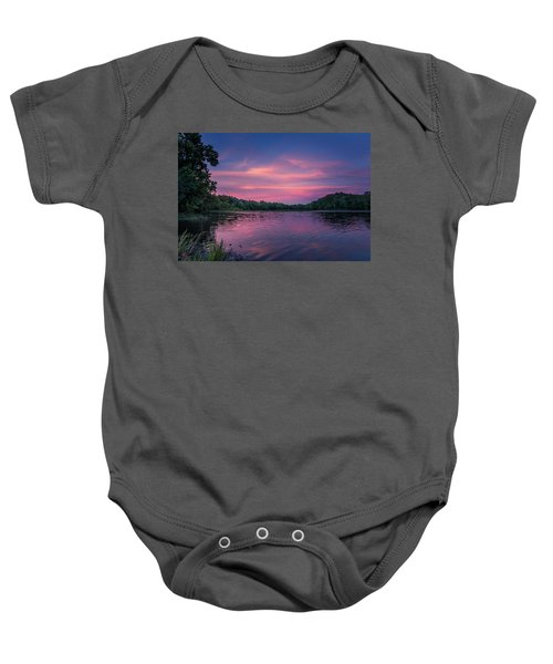 Evening At Springfield Lake Baby Onesie