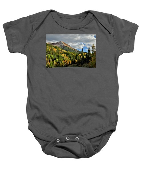 Fall Color Aspens Beneath Red Mountain Baby Onesie