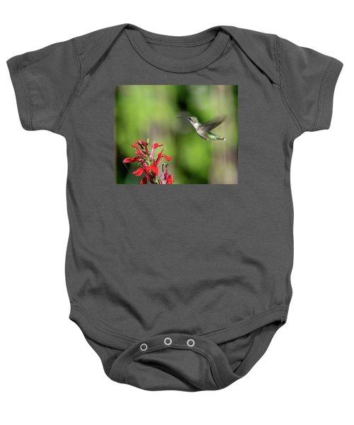 Female Ruby-throated Hummingbird Dsb0320 Baby Onesie