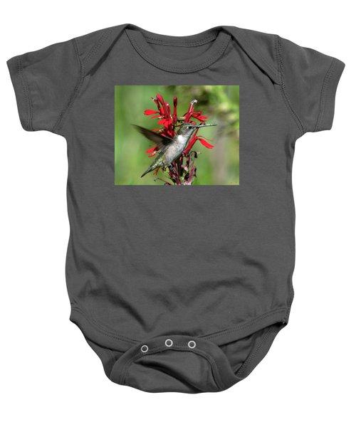 Female Ruby-throated Hummingbird Dsb0325 Baby Onesie