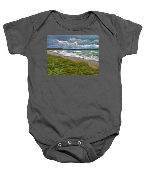 Field Of Green On Lake Superior Baby Onesie