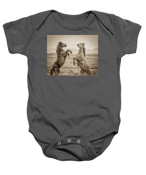 Fighting Stallions 2 Baby Onesie