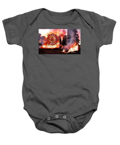 Fire Fighting 3 Baby Onesie