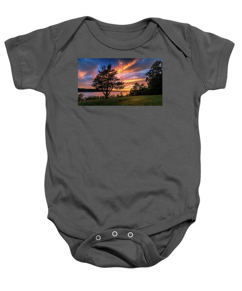Fishing At End Of Day Baby Onesie