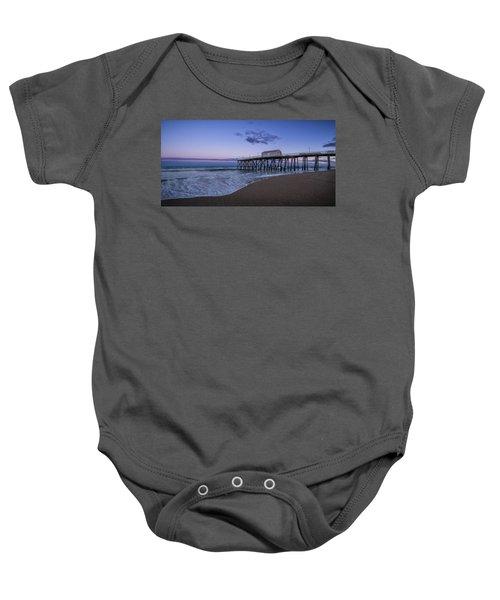 Fishing Pier Sunset Baby Onesie