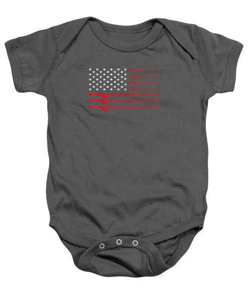 Fishing Rod T Shirt American Usa Flag - Fisherman Gift Idea Baby Onesie