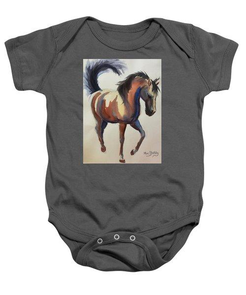 Flashing Bay Horse Baby Onesie