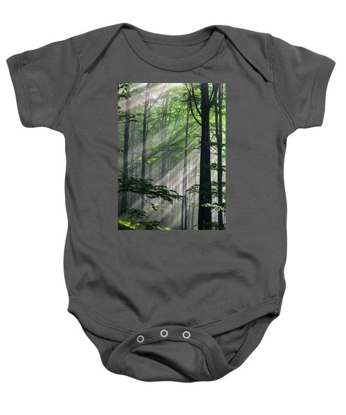 Fleeting Beams Baby Onesie