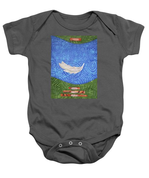 Floating Feather Baby Onesie