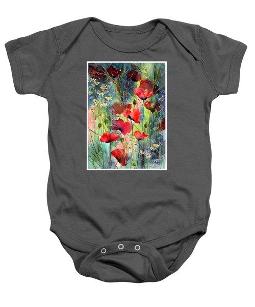 Floral Abracadabra Baby Onesie