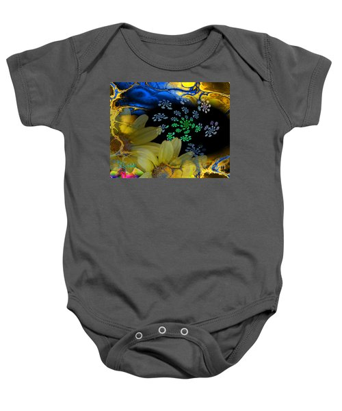 Flower Power In The Modern Age Baby Onesie